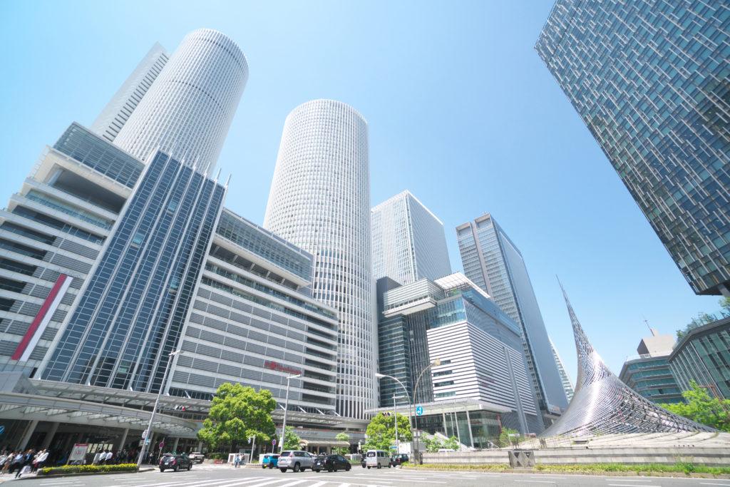 名古屋駅周辺の高層ビル(愛知県)2018年